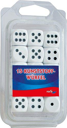 Kunststoff-würfel (Noris Spiele 606154361, 15 weiße Kunststoff Augenwürfel)