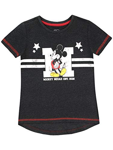 Disney Mädchen Mickey Mouse T-Shirt Grau ()