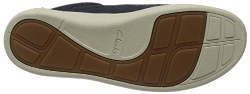 Clarks Mapped Edge, Baskets Basses Homme Bleu (Blue Combi)