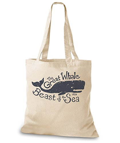 StyloBags Jutebeutel / Tasche The Great Whale Natur