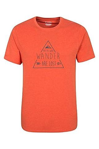 Mountain Warehouse Not All Who Wander Mens Tee Orange