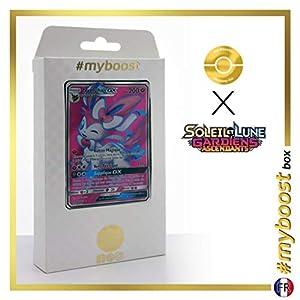 Nymphali-GX (Sylveon-GX) 140/145 Full Art - #myboost X Soleil & Lune 2 Gardiens Ascendants - Box de 10 Cartas Pokémon Francés