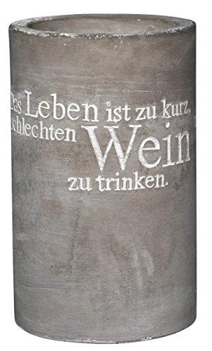 Räder - P.e.T. Vino Beton Weinkühler Das Leben ist zu kurz... Höhe 21,5 cm