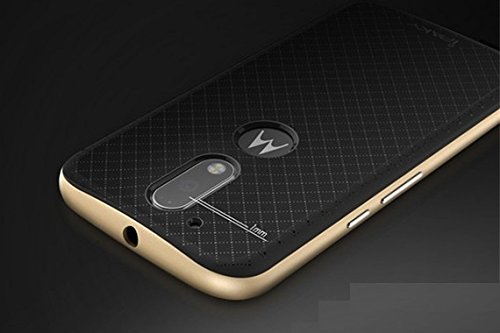 huge discount 3d402 488f3 iPaky AT15690 Hybrid Ultra Thin Shockproof Back + Bumper Case Cover for  MOTO G4 PLUS (Moto G Plus, 4th Gen) ,(Gold)