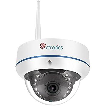 Caméra de Surveillance IP sans Fil, Ctronics Caméra de Sécurité WIFI HD 720P Dome Camera, Visibilité Nocturne à 20m, Installation Intérieure