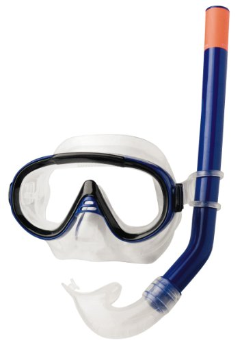 Rucanor DOLPHINA IV Schnorchel Maske Set–Blau, Junior