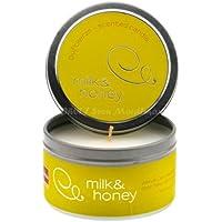 eika Kerzendose mit Duft Milk & Honey, sand, 55x80mm (WA23) preisvergleich bei billige-tabletten.eu