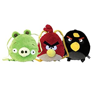 Rovio 91379 – Mochila con forma de peluche, diseño de Angry Bird rojo