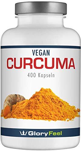 Curcuma/Kurkuma Kapseln - Der VERGLEICHSSIEGER 2019* - 400 Vegane Kapseln für über 1 Jahr - 700mg...