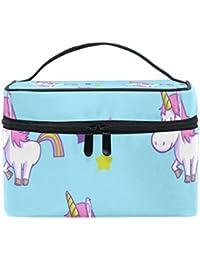 COOSUN Unicornio cosmética bolsa de viaje Neceser Top Manejar una sola capa  de maquillaje del caso cosmético del organizador del bolso… 1ec2503a59972