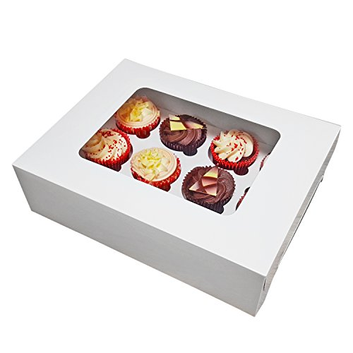 r 12Kuchen Weiß 10Stück (Großhandel Kuchen-boxen)