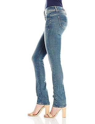 G-Star Women's Midge Saddle Mid Straight Wmn Jeans, Medium Aged