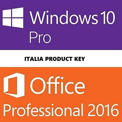 Windows 10 Pro + Office 2016 Pro Plus - Licenza Elettronica - Fattura