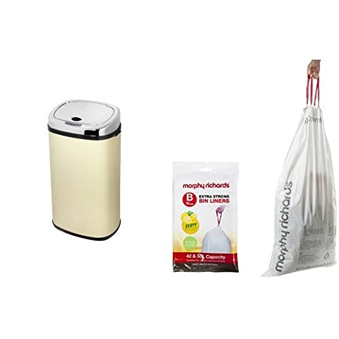 Morphy Richards Square Sensor Bin With 10 x Lemon Scented