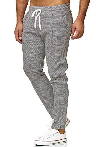 Red Bridge Pantalón para Hombre Slim-Fit Rayas Casual a Cuadros Moda Elástico Finos Chino Gris