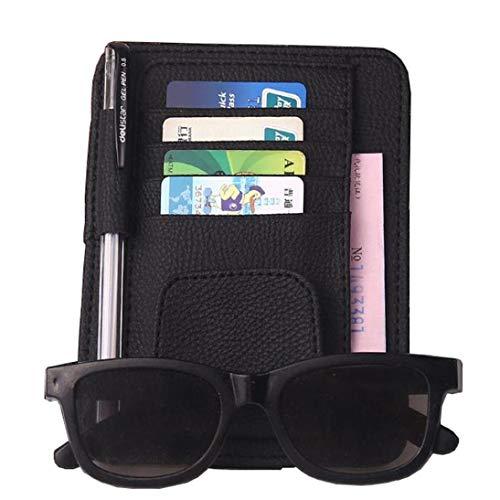Preisvergleich Produktbild Vektenxi Neue multifunktionale Auto Sonnenblende Brille Ticket Rechnungen Kartenhalter Verschluss Clip schwarz langlebig und nützlich