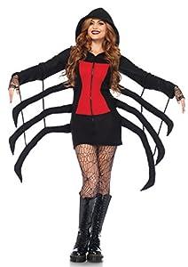 Leg Avenue- Mujer, Color Negro, Rojo, Large (EUR 42-44) (85558)