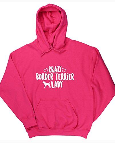 hippowarehouse-crazy-border-terrier-lady-unisex-hoodie-hooded-top