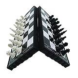 CoURTerzsl - Juego de ajedrez magnético para Viaje, Plegable, Juguete...