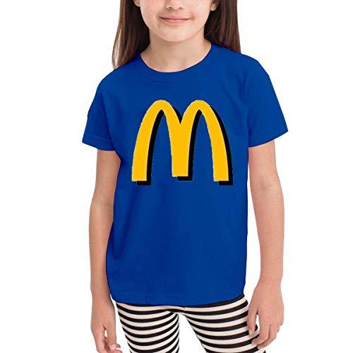 Organic Infant Creeper (Kinder Jungen Mädchen Shirts McDonalds T Shirt Kurzarm T-Shirt Für Tollder Jungen Mädchen Baumwolle Sommer Kleidung Blau 3 T)