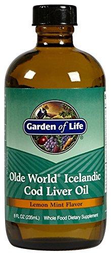 Garden of Life, Olde World, isländischer Kabeljau-Lebertran, Zitrone-Minze-Geschmack, 236 ml