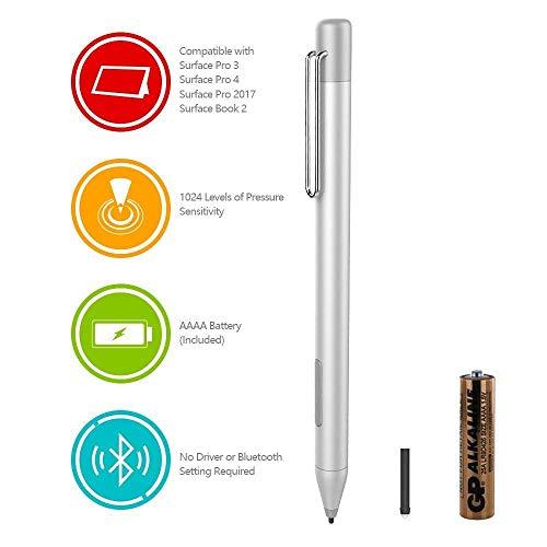 HP Digital Pen Active Stylus per HP Spectre X36013-ac023dx, X212-c012dx, 13-ac013dx, 13-ac033dx, 15-bl012dx, 15-bl112dx, HP Envy 36015m-bp012dx, HP Pavilion X36011m-ad013, 14m-ba013dx (argento)