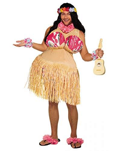 Hula Kostüm Tänzerinnen - Vollbrüstige Hula Tänzerin Herrenkostüm - Freches Faschings Kostüm