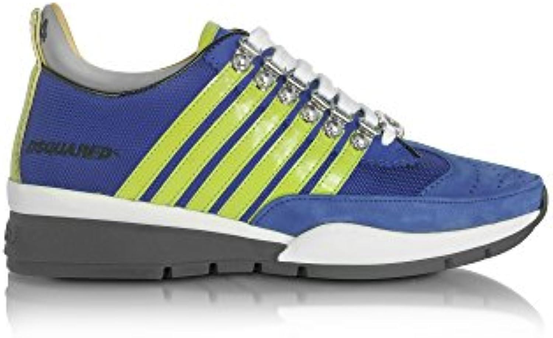DSQUARED2 Herren S17SN1011294M641 Blau Stoff Sneakers