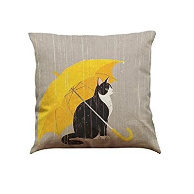 Indexp Cute Cat Pattern Printing Festival Throw Cushion Cover Sofa Home Decoration Pillow case - inexpensive UK light store.