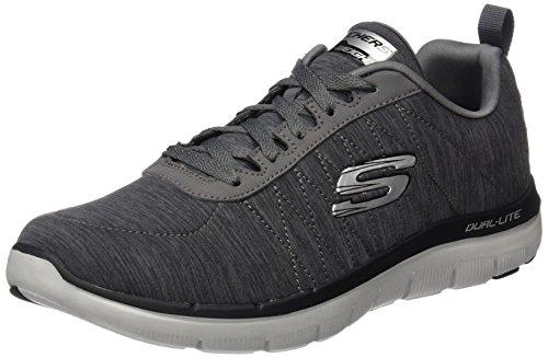 Skechers Herren Flex Advantage 2.0 Outdoor Fitnessschuhe, Grau (Char), 44 EU (Skecher Schuhe Männer Sport)