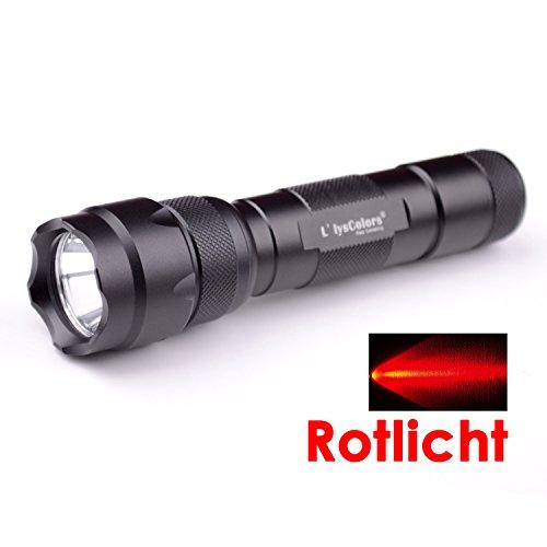 L\'LYSCOLORS - Rotlicht LED Taschenlampe Holster , 2xCR123A/18650 AKKU (Nicht enthalten!!)