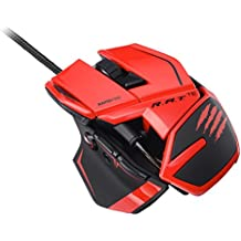 Mad Catz - Ratón R.A.T. TE, Color Rojo (PC)