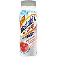 Weetabix En La Bebida De Fresa Ir Y Proteínas De Frambuesa 275ml (Paquete de 6)