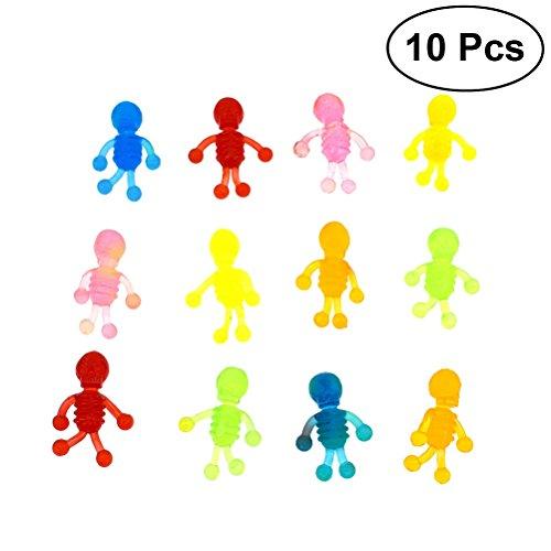 Preisvergleich Produktbild TOYMYTOY Biegsamen Menschliches Skelett Action-Figuren Groß Spielzeug Für Kinder 10 Stück (Zufällige Farbe)