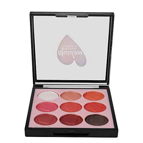 feiXIANG 9 couleurs fard à paupières Shimmer Mate Palette Cosmétiques Brush Set de maquillage,cosmétique scintillement Matte ombre palettes Eye maquillage