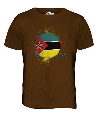 CandyMix Mozambico Calcio T-Shirt da Uomo Maglietta Marrone