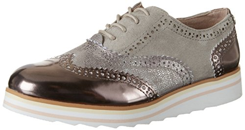 Tom Tailor Damen 2790403 Brogues, Silber (Polished-Grey), 39 EU