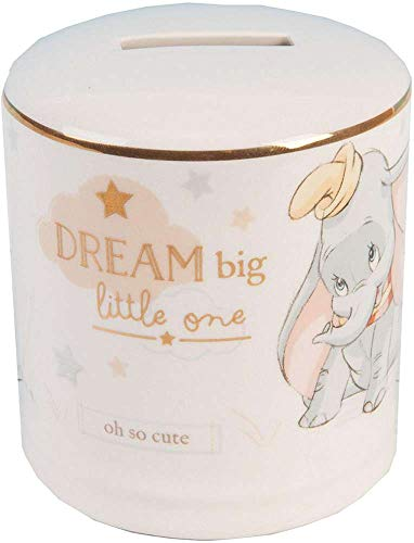 Widdop Co. Disney Magische Anfängen Keramik Spardose Bank, mit Gold Detail-Dumbo