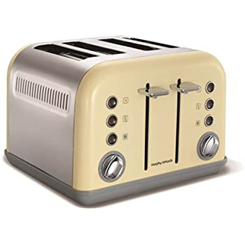 Morphy Richards 242003 Accents Toaster, 1800 W - Cream