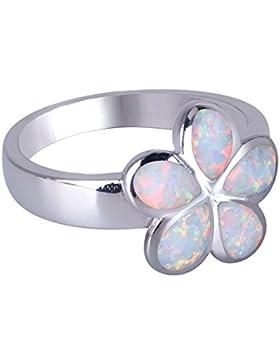 Geschaffen Opal Ring Blume Gestalten 925 Sterling Silber Frau Ring
