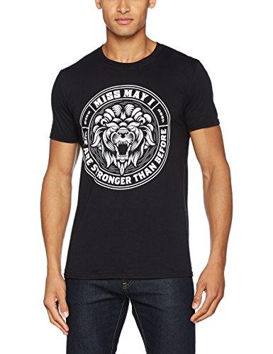 CID Herren T-Shirt Miss May I-Lion Crest Schwarz