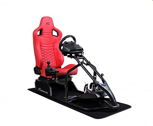 Speedmaster Pro Schwarz - Carbonfaser Optik Rot - Rennsitz - PS4 XBOX - Simracing