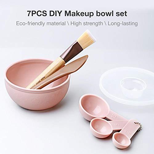 DIY Gesichtsmaske Schüssel Beauty Set, Mit 7 Stück Set Maske Werkzeug Stick Löffel Maske Pinsel Schüssel - Schüssel Pinsel