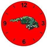 'Reloj 'Rana Agua de estanque de ranas animales pequeños de cristal reloj de pared estante de...