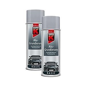 Kwasny 2X 233 060 Auto-K Basic Alu-Grundierung Grau Spray 400ml