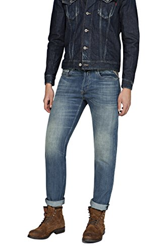 Replay Herren Jeanshose Grover Blau (Blue Denim 9)