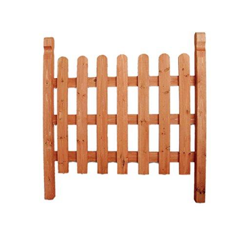 Cancello in legno per recinzioni divisori esterno giardino resistente 104x115 cm EV