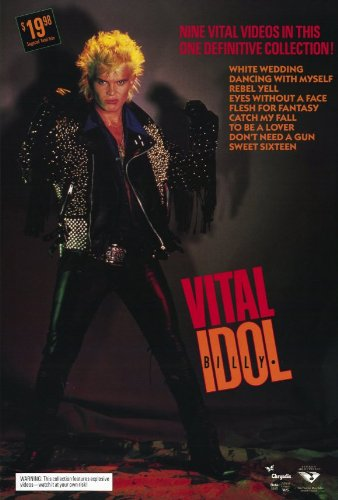 Billy Idol: Vital Plakat Movie Poster (27 x 40 Inches - 69cm x 102cm) (1987) (Plakat 1987)