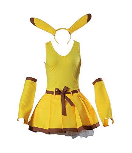 Chong Seng CHIUS Cosplay Costume Yellow Dress Outfit for Pikachu Version 2