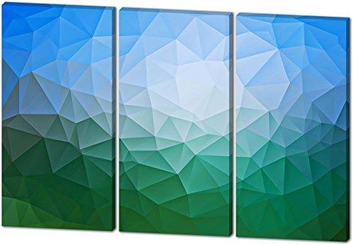 Abstrakt, Gemälde Effekt, schönes und hochwertiges Leinwandbild zum Aufhängen in XXL - 3 Teiler mit 120cm x 80cm, echter Holzrahmen, effektiver Pigmentdruck, modernes Design für Ihr Büro oder Zimmer